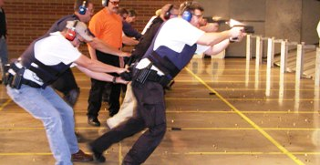 Tactical Handgun class beginning live-fire combatives